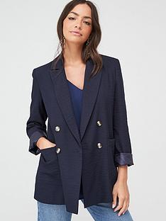 wallis-patch-pocket-blazer-navy