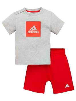 Adidas   Infants Logo Sum Tracksuit - Grey