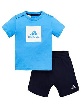 Adidas   Infants Logo Sum Tracksuit - Blue