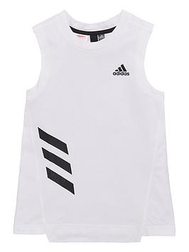 Adidas Junior Girls Xfg Tank - White