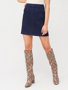 Oasis Oasis Bow Skirt - Dark Wash Picture