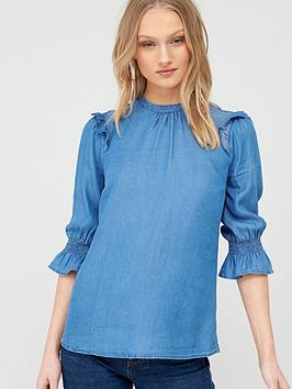 Oasis Oasis Ruffle Sleeve Three Quarter Sleeved Top Picture
