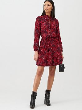 Oasis Oasis Heart Shirt Blouse Dress - Red Picture