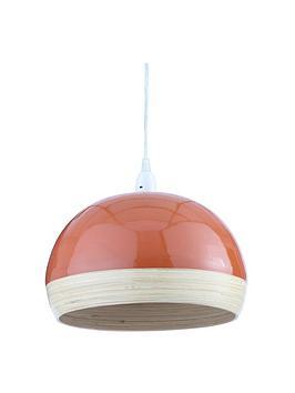 Very Hampton Bamboo Easy-Fit Lightshade &Ndash; Burnt Orange Picture