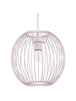 Very  Columbia Easy-Fit Wire Lightshade &Ndash; Pink