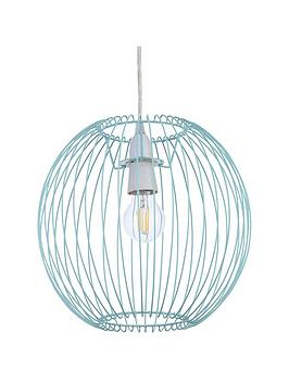 Very  Columbia Easy-Fit Wire Lightshade &Ndash; Blue