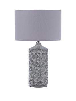 Very  Clovis Embossed Ceramic Table Lamp