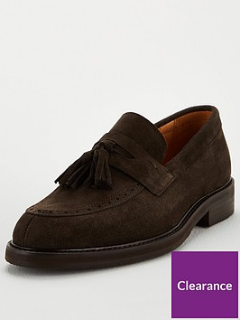 selected-homme-tassel-suede-loafers-brown