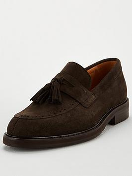 Selected Homme Selected Homme Tassel Suede Loafers - Brown Picture