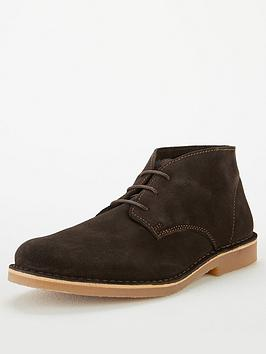 Selected Homme Selected Homme Royce Suede Desert Boots - Brown Picture
