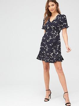 Oasis Oasis Shadow Bird Shift Dress - Multi Blue Picture