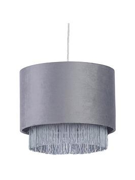 Very Fremont Tiered Fringe Easy-Fit Pendant Lightshade Picture