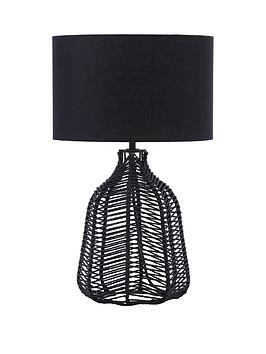 Very Elk Rattan Table Lamp Picture