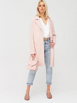 Oasis Oasis Boiled Wool Unlined Coat - Pale Pink Picture