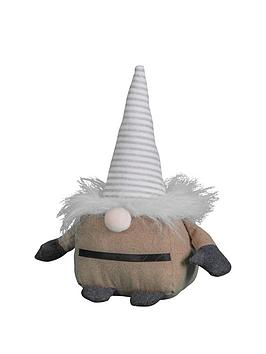 Gallery Gallery Gnome Stripy Doorstop In Taupe Picture