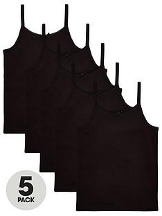 v-by-very-girls-5-pack-strappy-school-vests-black