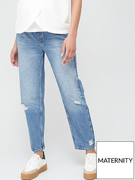 v-by-very-maternity-vintage-rip-mom-jean-mid-wash