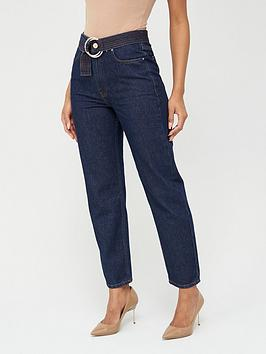 V by Very V By Very Belted Mom Jean - Indigo Picture