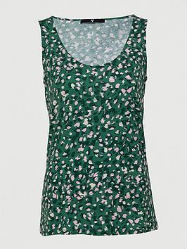 V by Very V By Very Printed Scoop Vest - Green Print Picture