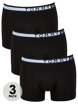Tommy Hilfiger Tommy Hilfiger 3 Pack Side Logo Trunks - Black Picture