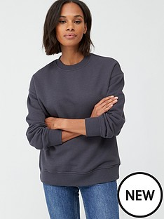 v-by-very-the-essential-oversized-basic-sweat-dark-grey