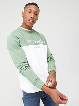 Calvin Klein Jeans Calvin Klein Jeans Colourblock Logo Sweatshirt -  ... Picture