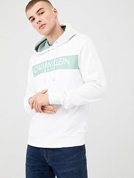 Calvin Klein Jeans Calvin Klein Jeans Stripe Logo Hoodie - White Picture