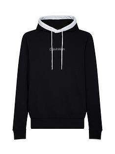 calvin-klein-jeans-small-logo-tipped-hoodie-black
