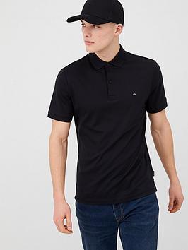 Calvin Klein Jeans Calvin Klein Jeans Soft Interlock Polo Shirt - Black Picture