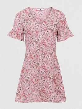 V by Very V By Very Printed Tea Dress - Pink Daisy Print Picture