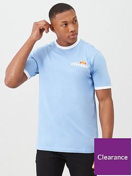 ellesse-agrigento-ringer-t-shirt-light-blue
