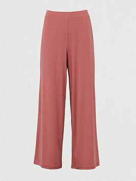 V by Very V By Very Co Ord Wide Leg Trouser - Dark Pink Picture