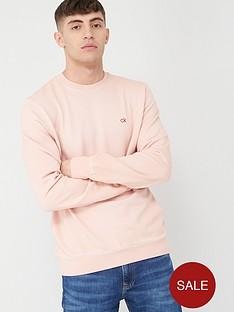 calvin-klein-jeans-garment-dye-chest-logo-sweatshirt-nude