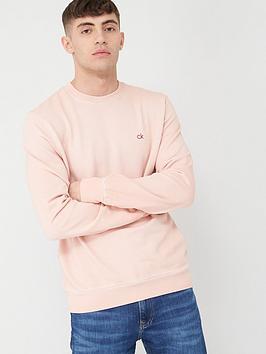 Calvin Klein Jeans Calvin Klein Jeans Garment Dye Chest Logo Sweatshirt -  ... Picture