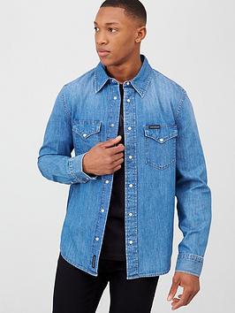 Calvin Klein Jeans Calvin Klein Jeans Modern Western Shirt - Mid Blue Picture