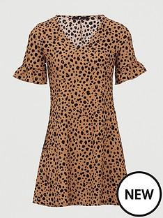v-by-very-printed-tea-dress-animal-print