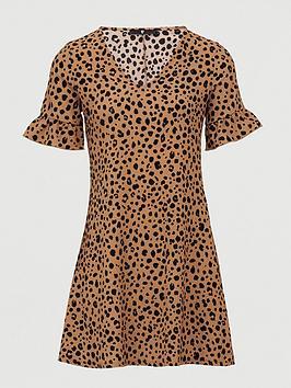 V by Very V By Very Printed Tea Dress - Animal Print Picture