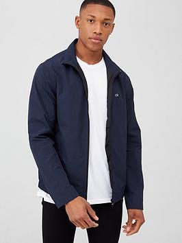Calvin Klein Jeans Calvin Klein Jeans Crinkle Nylon Blouson Jacket - Navy Picture
