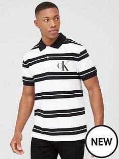 calvin-klein-jeans-big-monogram-striped-polo-shirt-blackwhite