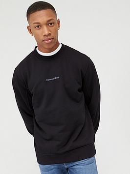 Calvin Klein Jeans Calvin Klein Jeans Instit Chest Logo Sweatshirt - Black Picture