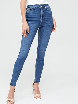 V by Very V By Very Charley High Waist 5 Pocket Jegging - Mid Wash Picture