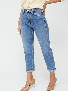 V by Very V By Very High Waist Mom Jean - Mid Wash Picture