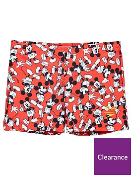 speedo-toddler-boy-mickey-mouse-aquashort-red