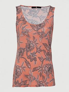V by Very V By Very Printed Scoop Vest - Paisley Print Picture