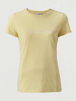 V by Very V By Very Make Today Count T-Shirt - Yellow Picture