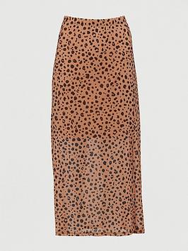 V by Very V By Very Mesh Midi Skirt - Animal Print Picture