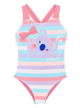 Speedo Speedo Toddler Girls Koala Digital Swimsuit - Pink/Purple Picture