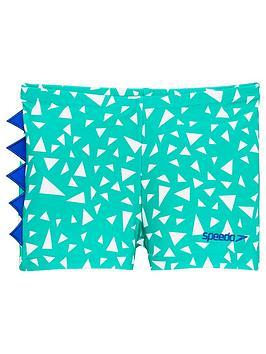 Speedo Speedo Toddler Boys Croc Print Aqua Shorts - Green/Blue Picture