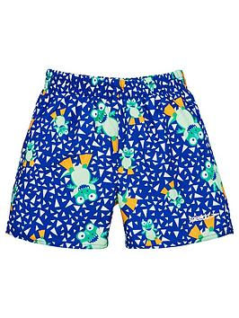 Speedo Speedo Toddler Boys Croc Print Watershorts - Blue Picture