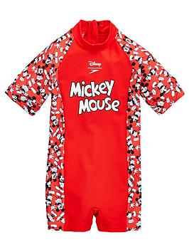 Speedo Speedo Toddler Mickey Mouse All In One - Red Picture